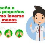 Infografía: 5 Pasos para un lavado de manos correcto